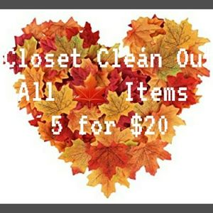 CLOSET CLEAN OUT ~ ALL 🍁 Items 5 for $20